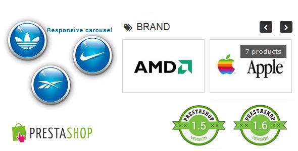 Responsive Brand Logos Carousel for Prestashop - CodeCanyon Item for Sale