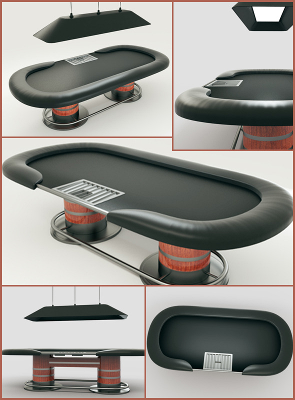 Poker Table 3D Model - 3DOcean Item for Sale
