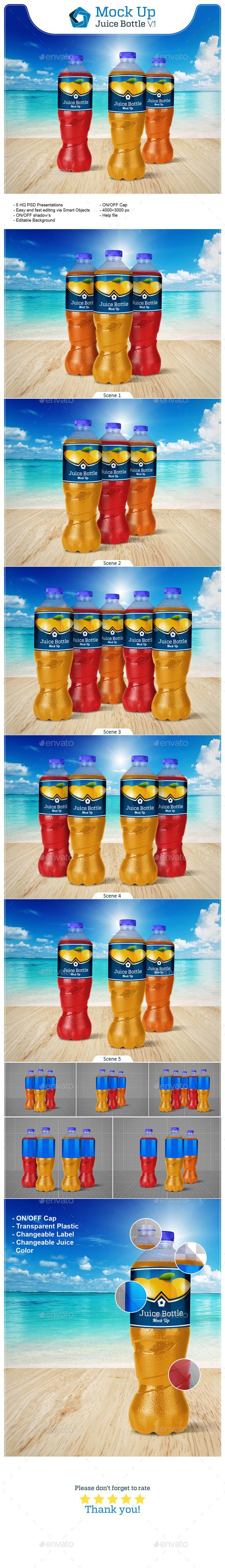 Juice Bottle V.1 - Food and Drink Packaging