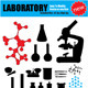 Vector Laboratory Silhouette Set - GraphicRiver Item for Sale