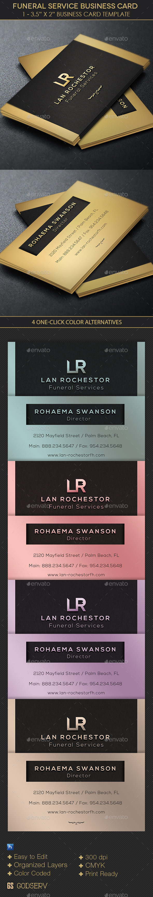 Funeral Director Business Card Template By Godserv Graphicriver