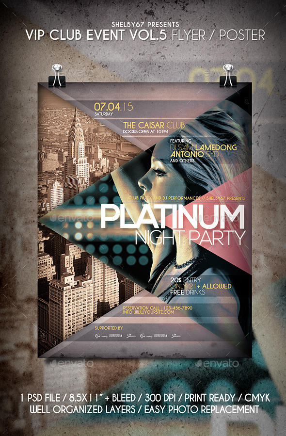 VIP Club Event Flyer / Poster Vol 5 - Clubs & Parties Events