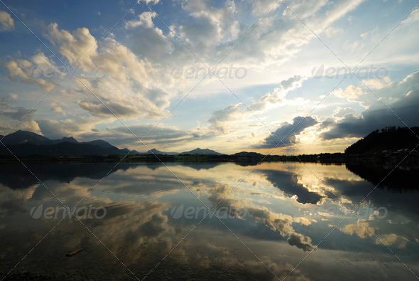 Cloud reflection - Stock Photo - Images