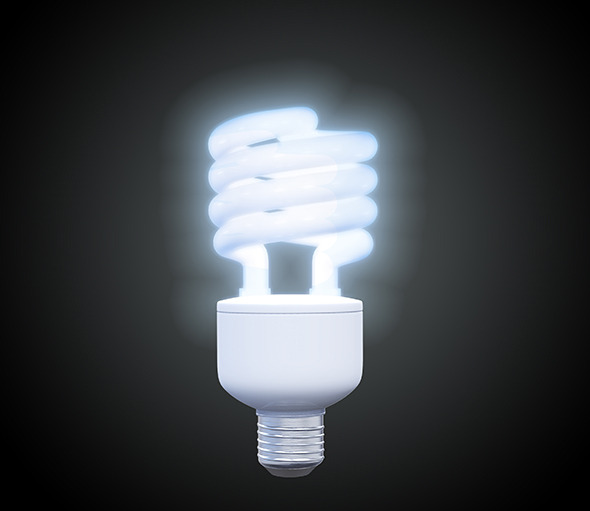 Energy Saving Light - 3DOcean Item for Sale