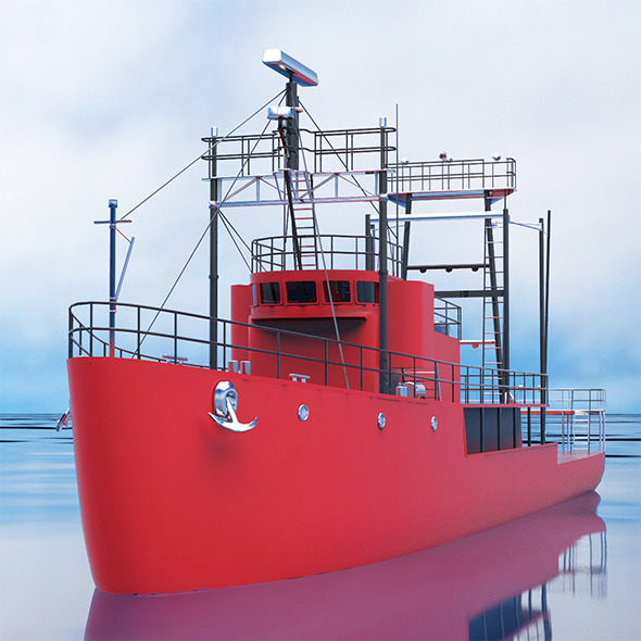 Mini cargo ship - 3DOcean Item for Sale