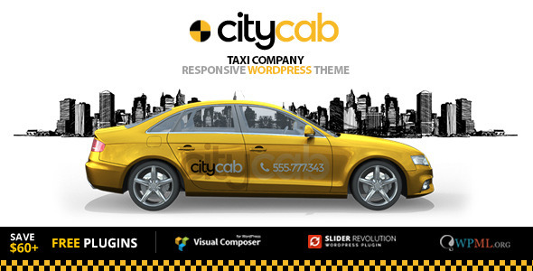 CityCab – Taxi Company & Taxi Firm WordPress Theme