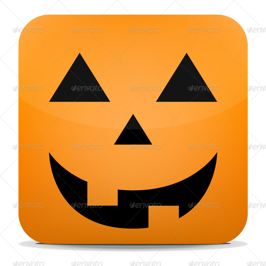glossy halloween icon set by jackrugile