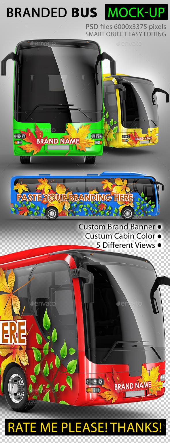 Bus, Coach Bus, Tourist bus, mock-up - Vehicle Wraps Print