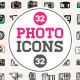 Great 32+32 Vector Photo/Camera Icons Set - GraphicRiver Item for Sale