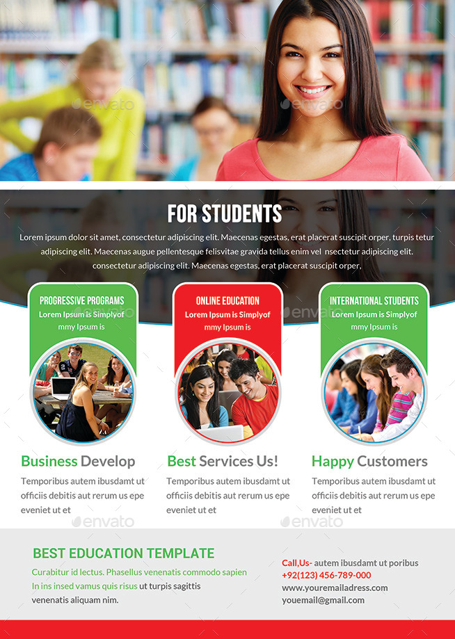 Junior School Education Flyer Template by afjamaal | GraphicRiver