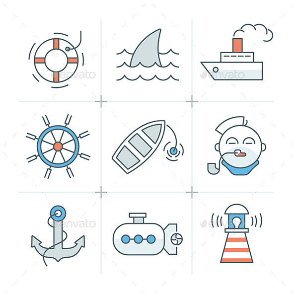 Nautical Icons Collection - Miscellaneous Icons