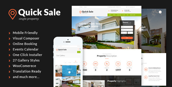 Image of Quick Sale | Single Property Real Estate WordPress Theme