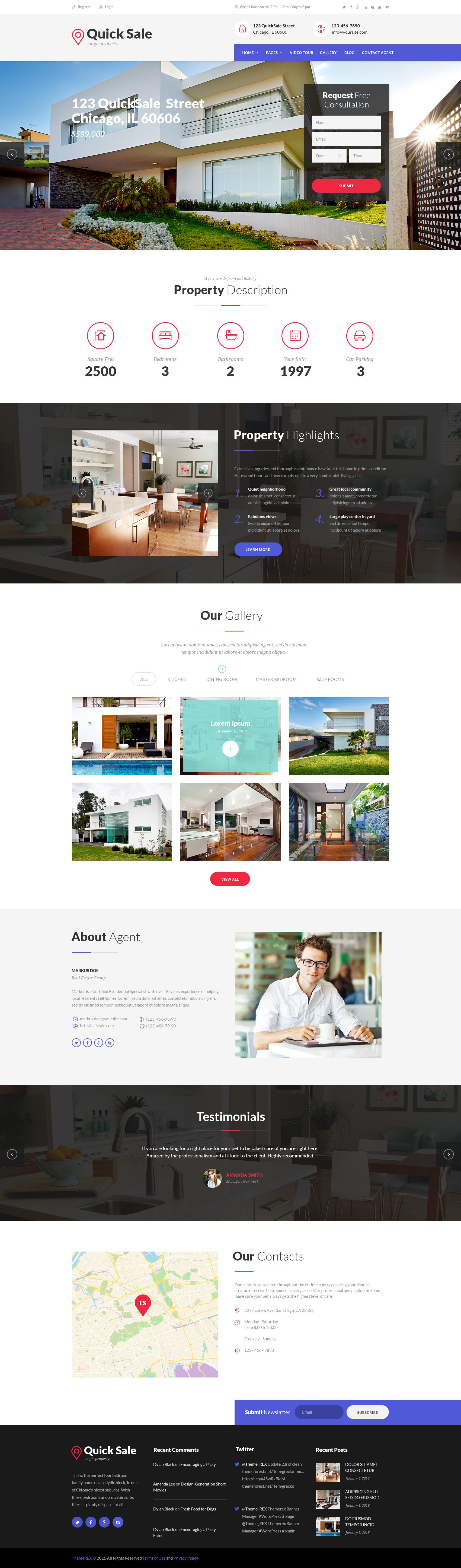 Quick Sale Single Property Real Estate Wordpress Theme By Themerex