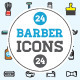 Great 24+24 Vector Barber Shop Icons Set - GraphicRiver Item for Sale