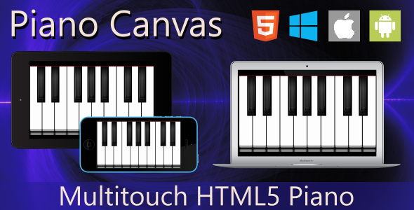 Piano Canvas - HTML5 - CodeCanyon Item for Sale