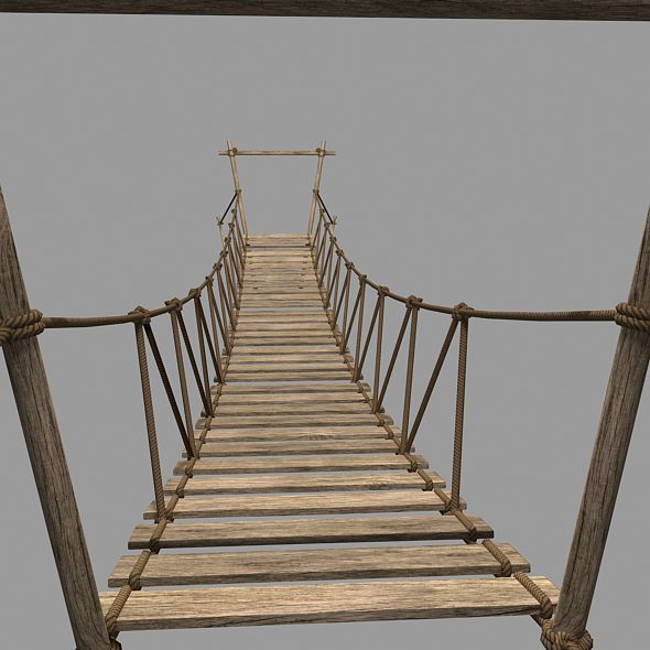 Rope Bridge 3d Model - 3DOcean Item for Sale