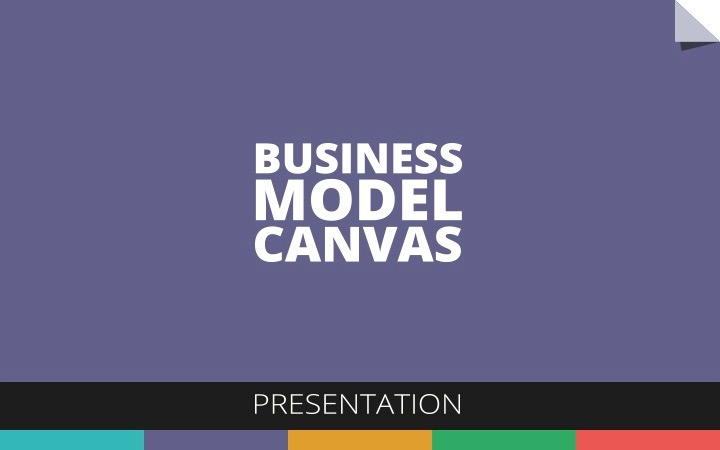 Model Canvas Presentation Powerpoint Screens Business Powerpointpurple Diapositiva01