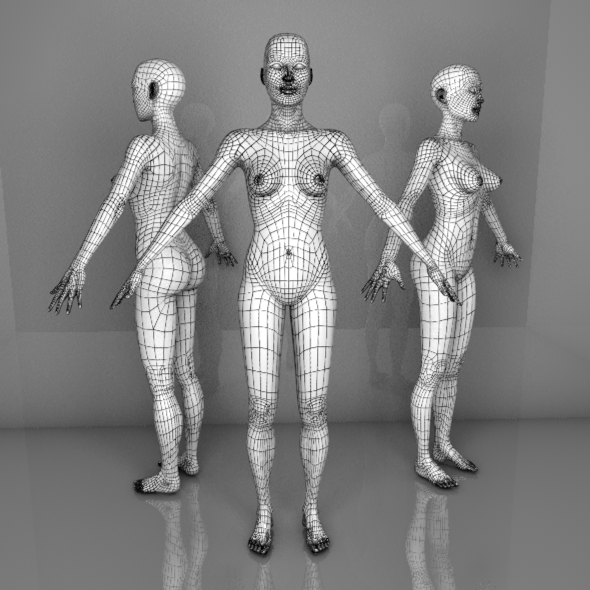 Female Mesh - 3DOcean Item for Sale