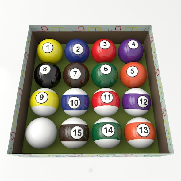 Pool Balls Set - 3DOcean Item for Sale