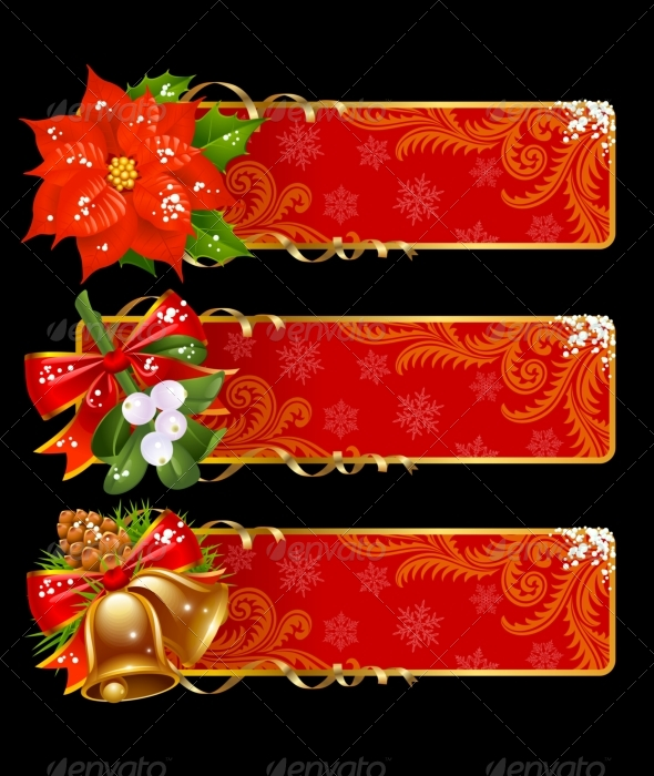 Christmas and New Year. Xmas banner set 10 - Christmas Seasons/Holidays