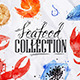 Watercolor Seafood Signs  - GraphicRiver Item for Sale