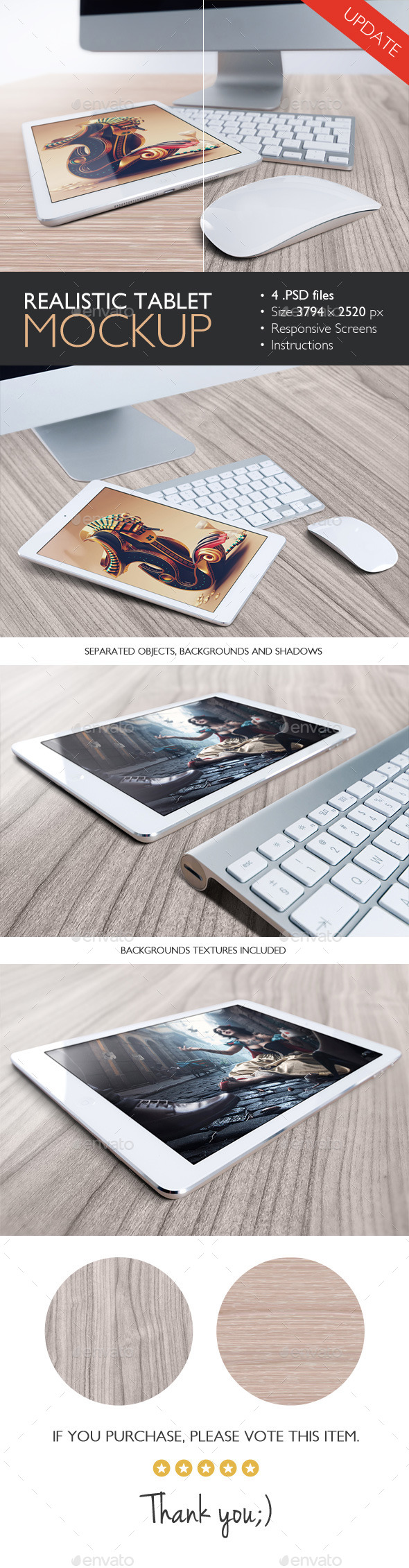 Realistic Tablet Mockup - Product Mock-Ups Graphics