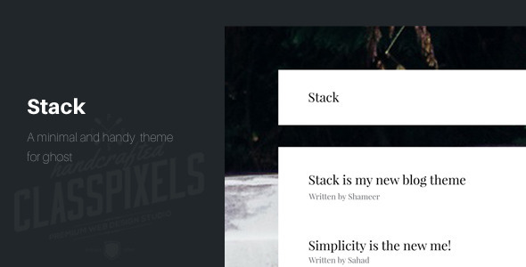 Stack – A minimal theme for ghost