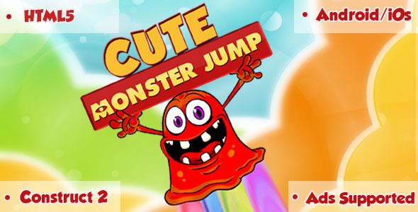 Cute Monster Jump - HTML5 Game - CodeCanyon Item for Sale