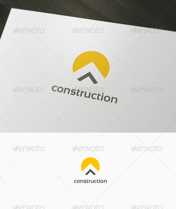 Construction logo by domibit graphicriver for House construction companies
