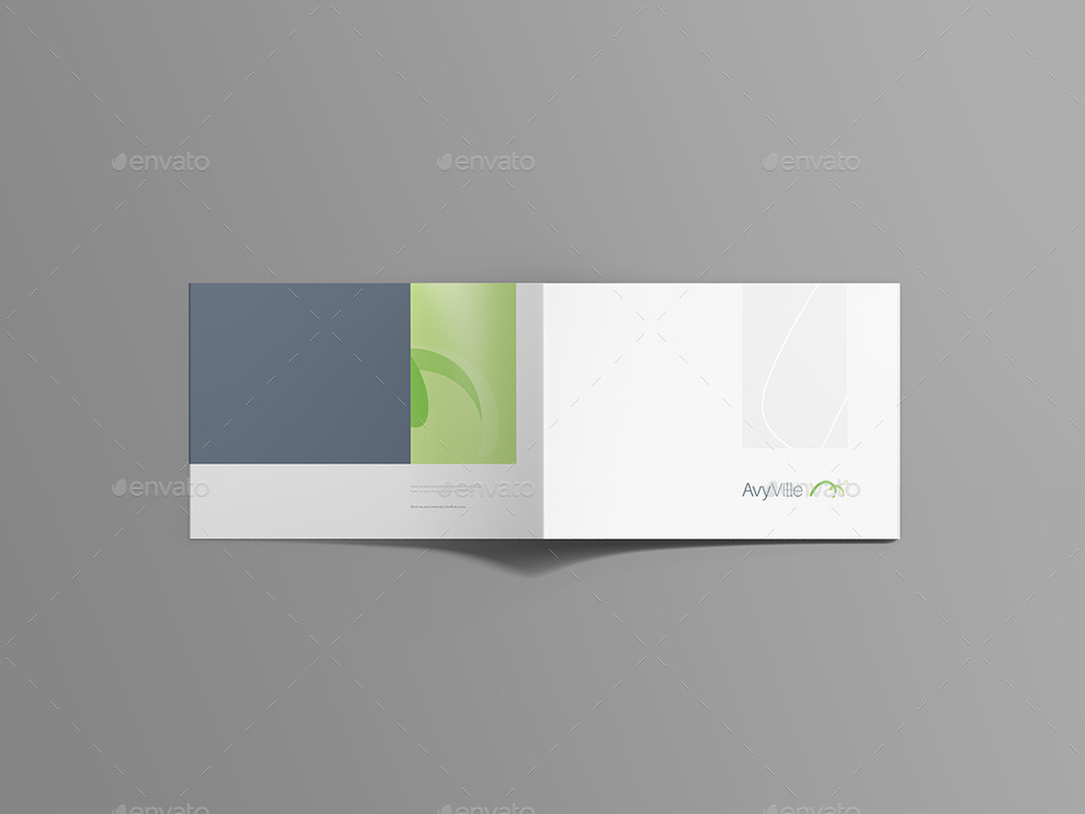 Landscape Brochure Mockup By Blugraphic  Graphicriver
