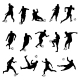 Silhouettes of Football Players - GraphicRiver Item for Sale