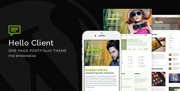 Hello Client – One Page Portfolio Theme for WordPress