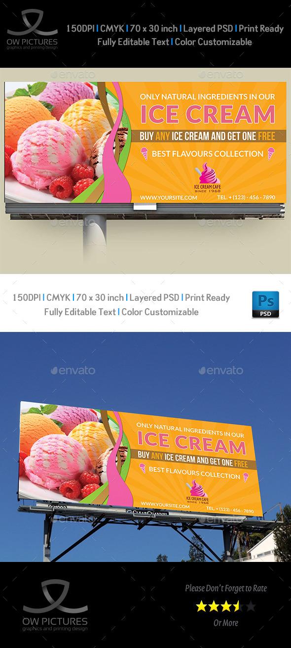 Ice Cream Billboard Template Vol.3