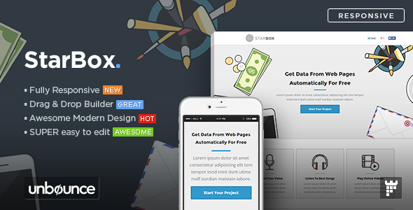 StarBox - Startup Unbounce Landing Page Template - Unbounce Landing Pages Marketing