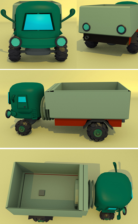 Little Truck - 3DOcean Item for Sale