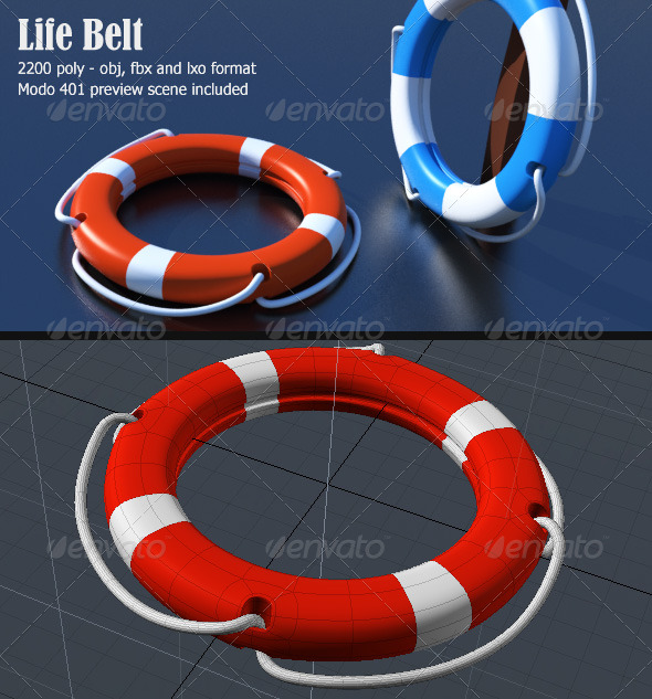 Lifebelt 3D Object - 3DOcean Item for Sale