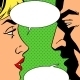 Man and Woman Talking Comics Retro Style - GraphicRiver Item for Sale