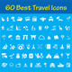 60 Travel Icons - GraphicRiver Item for Sale
