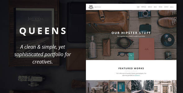 Queens - Creative One-page Drupal Theme - Portfolio Creative