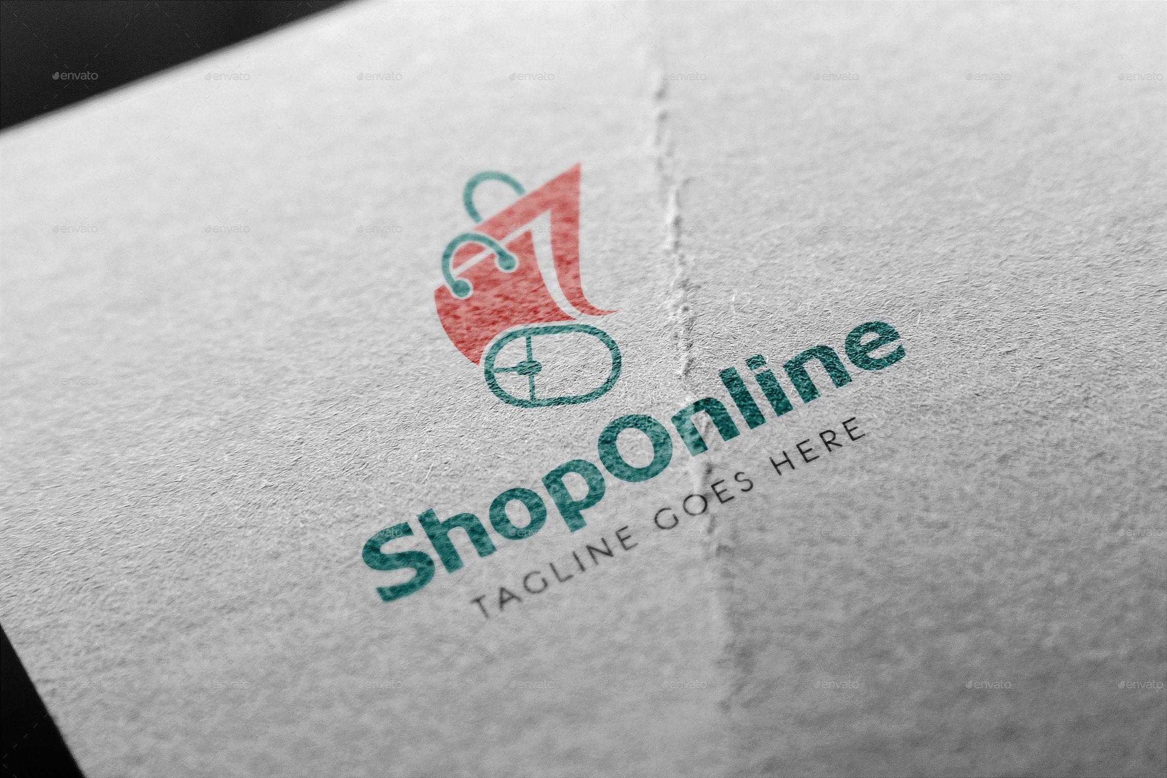 online shop logo by shekistical graphicriver. Black Bedroom Furniture Sets. Home Design Ideas
