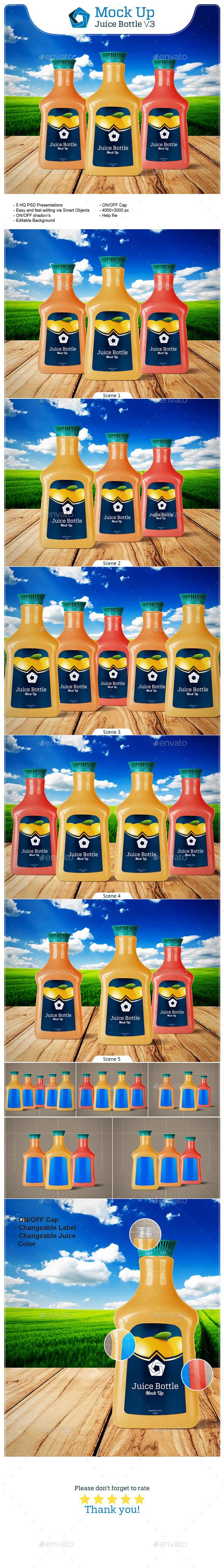 Juice Bottle V.3 - Food and Drink Packaging