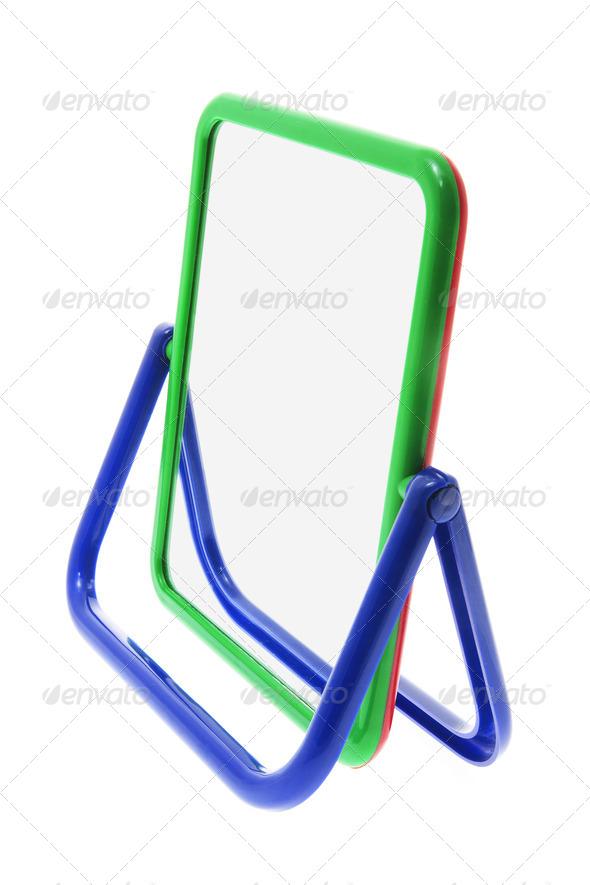 Portable Mirror - Stock Photo - Images