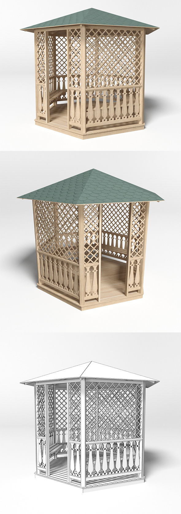 Gazebo 2 - 3DOcean Item for Sale