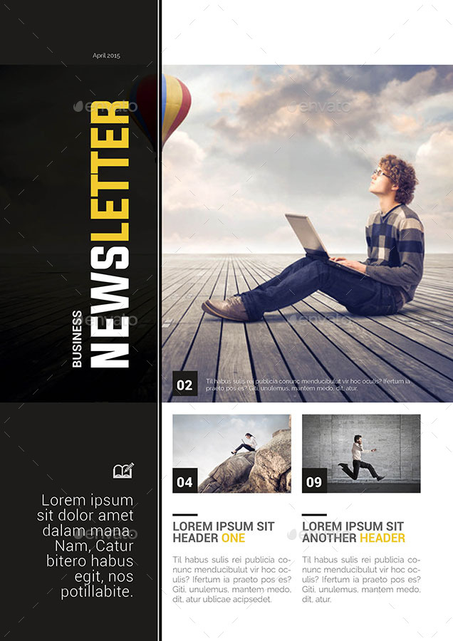 business newsletter template by spidergraph graphicriver. Black Bedroom Furniture Sets. Home Design Ideas