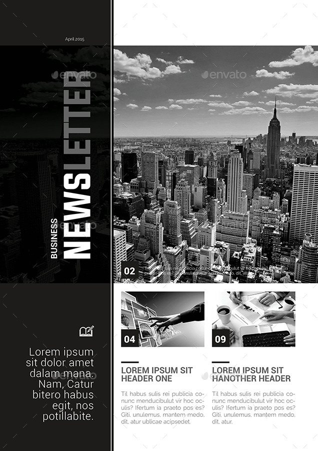 black and white newsletter templates juve cenitdelacabrera co