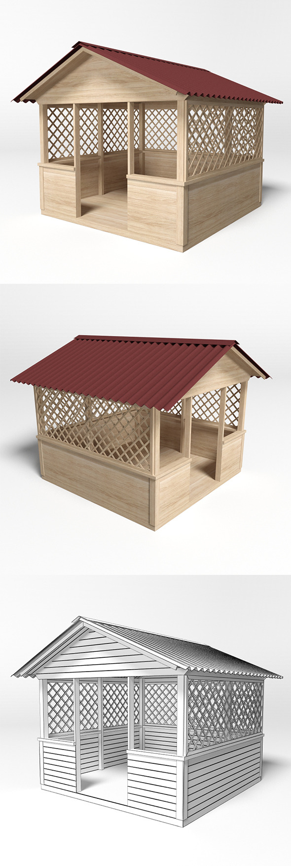 Gazebo 5 - 3DOcean Item for Sale