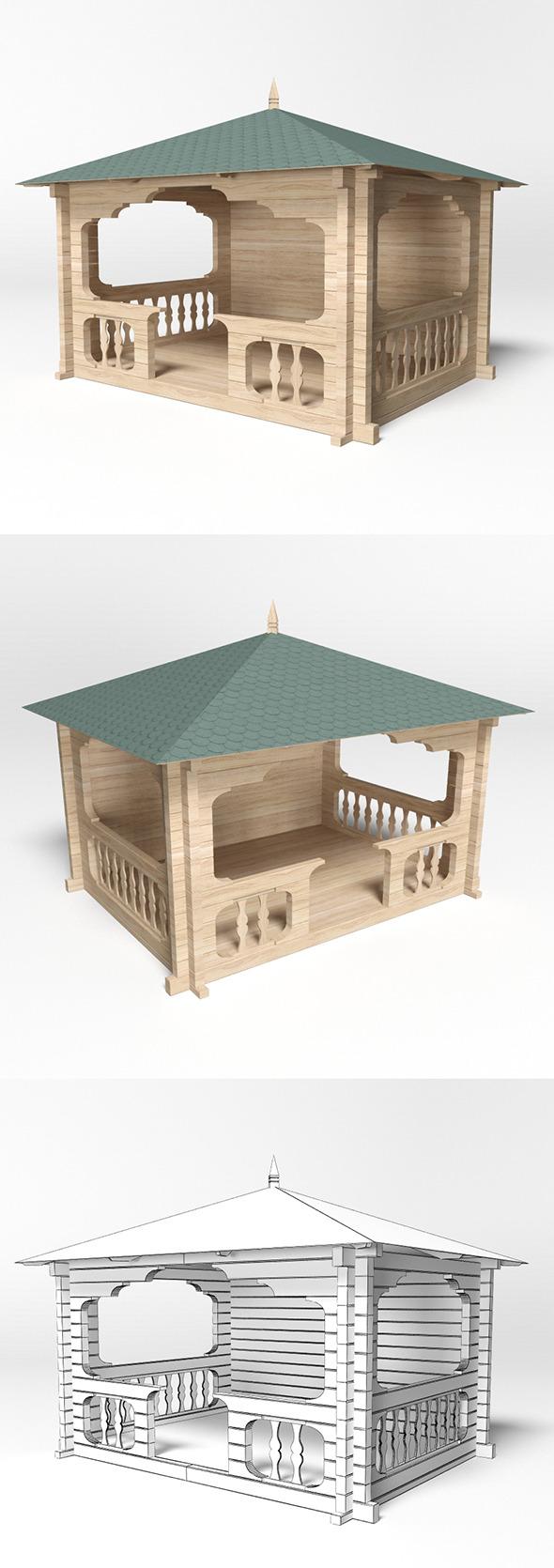 Gazebo 6 - 3DOcean Item for Sale