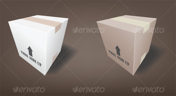 Shipping Boxes - Man-made Objects Objects