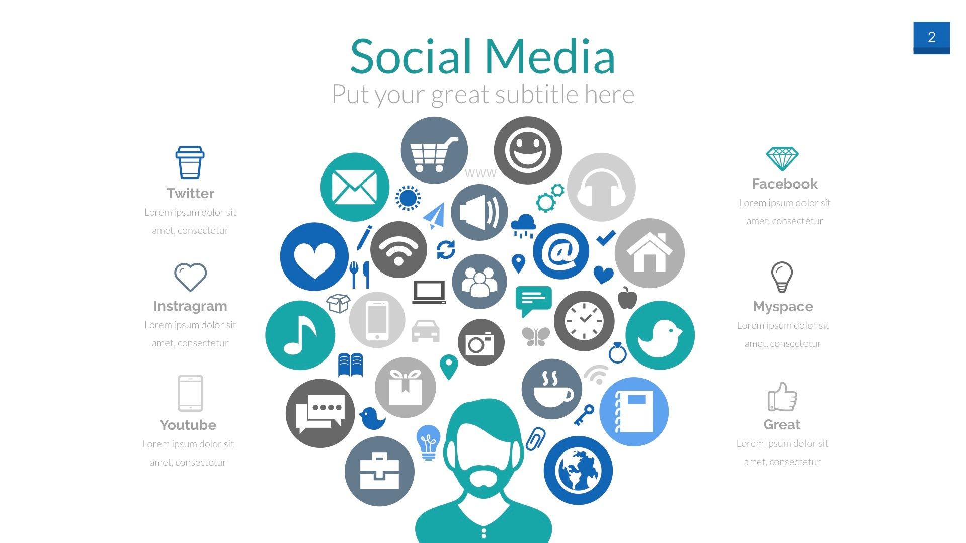 social media powerpoint presentation templateaudioneptune, Presentation templates