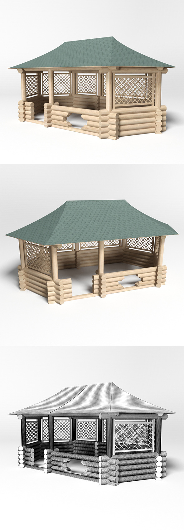 Gazebo 7 - 3DOcean Item for Sale